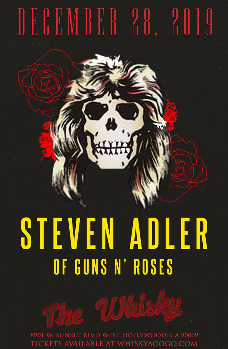 STEVEN ADLER of Guns N' Roses, Adrenalin Red, Stonebreed, Stormbreaker, 6 Speed Supernova, Thatcher