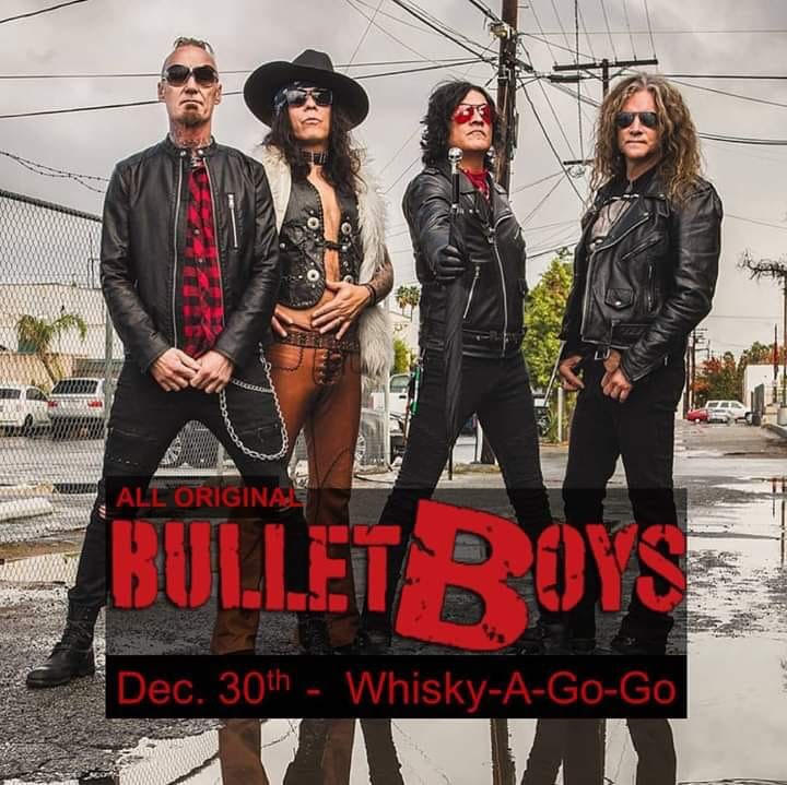 Bulletboys (All Original Members), Dark Horse Rising, Wild Ride, White Collar, Electric Junkies