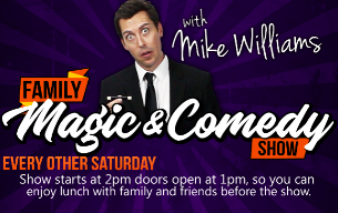 Sept. - Oct. Family Magic & Comedy For All Ages with Mike Williams