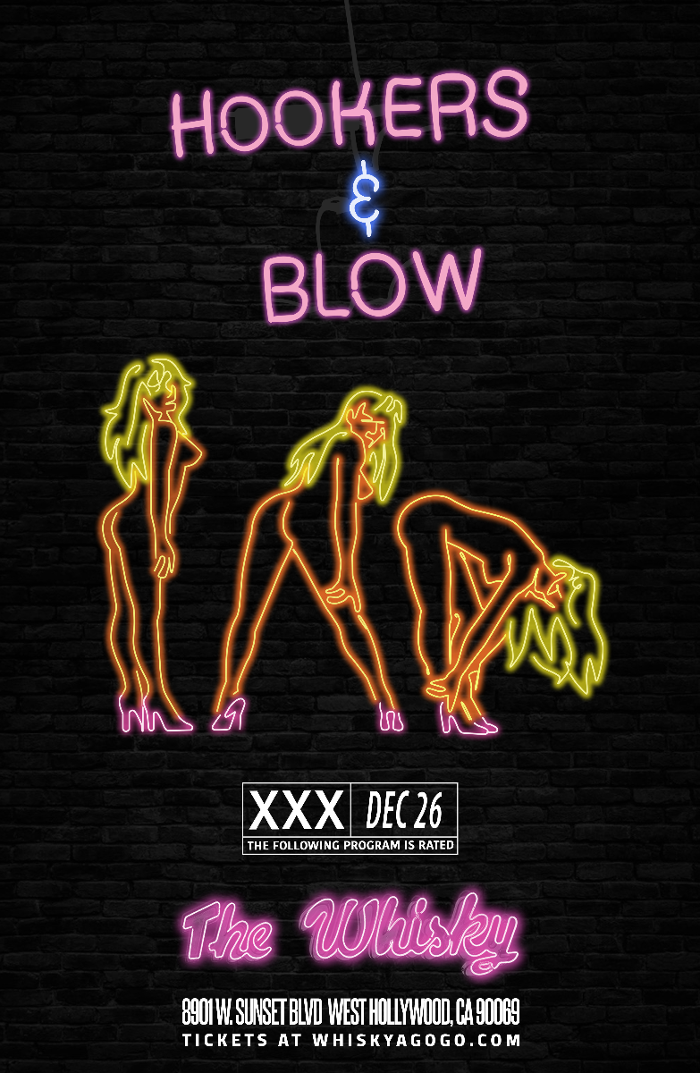 Hookers & Blow featuring Dizzy Reed of Guns N' Roses, Garden of Eden, Johnny Nasty