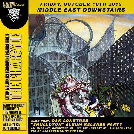 Fatlip & Slimkid3 performing Bizarre Ride II The Pharcyde with Mic flont & khingz, Art of Verse, Oak Lonetree