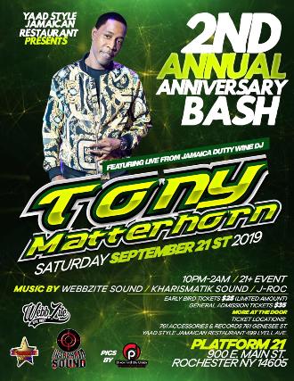 Tony Matterhorn Live
