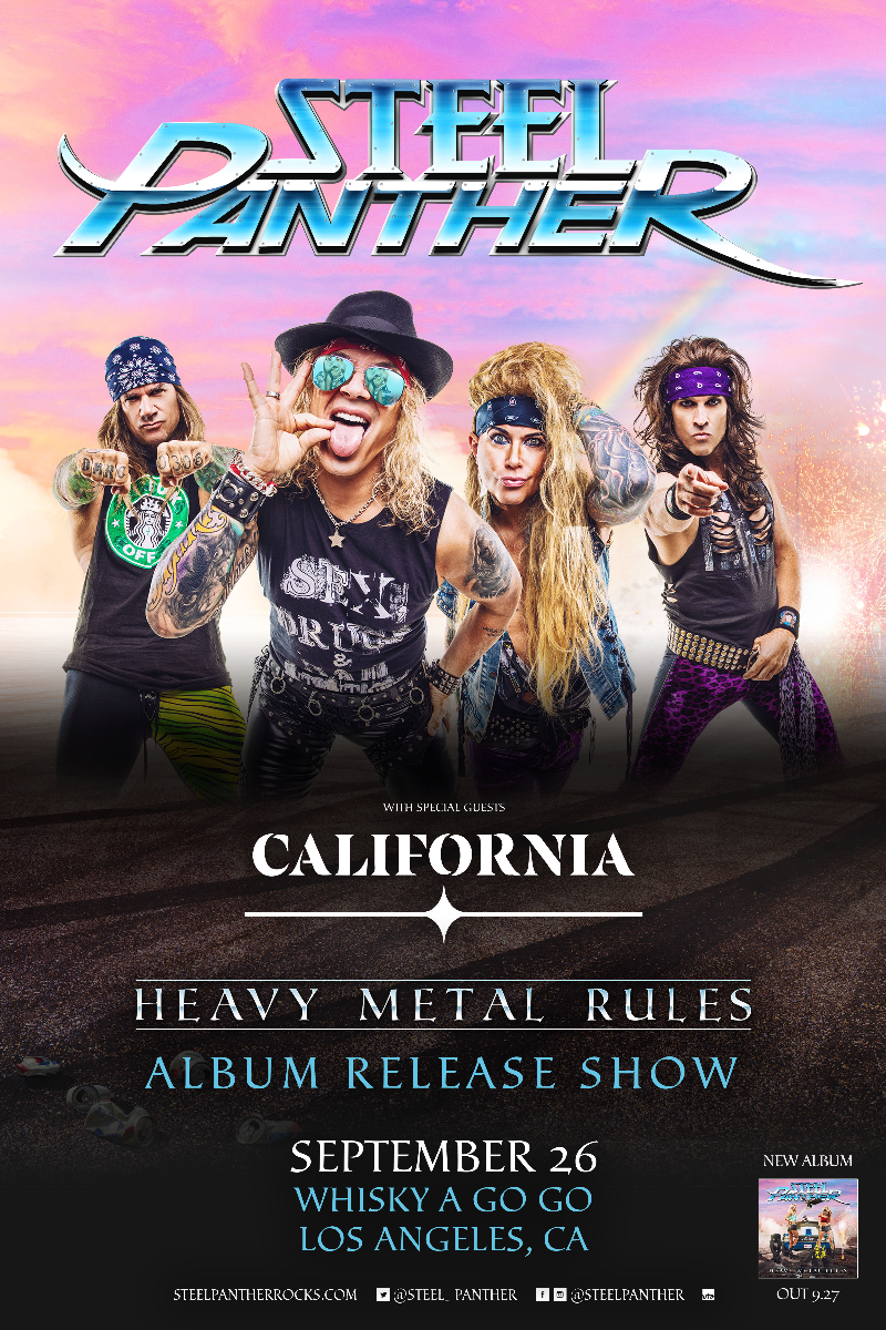 Steel Panther - Heavy Metal Rules Album Release Show, California