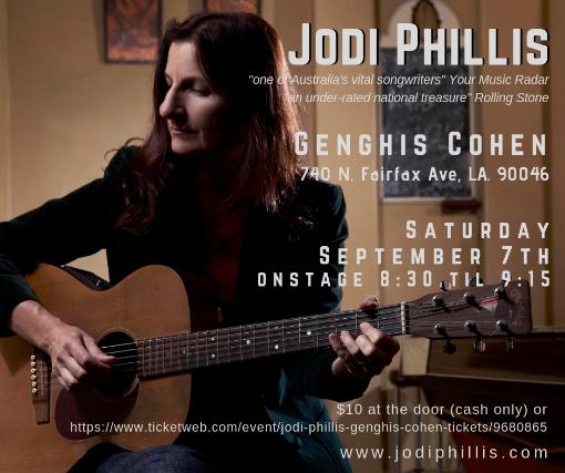 Jodi Phillis at Genghis Cohen