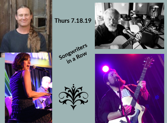 Songwriter's Night: 8-10 pm  Feat: Local Singer/Songwriters