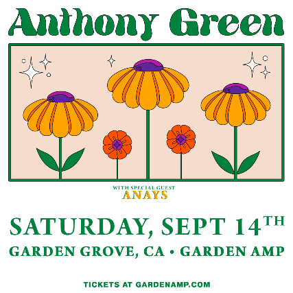 Anthony Green at Garden Amp at Garden Grove Amphitheater