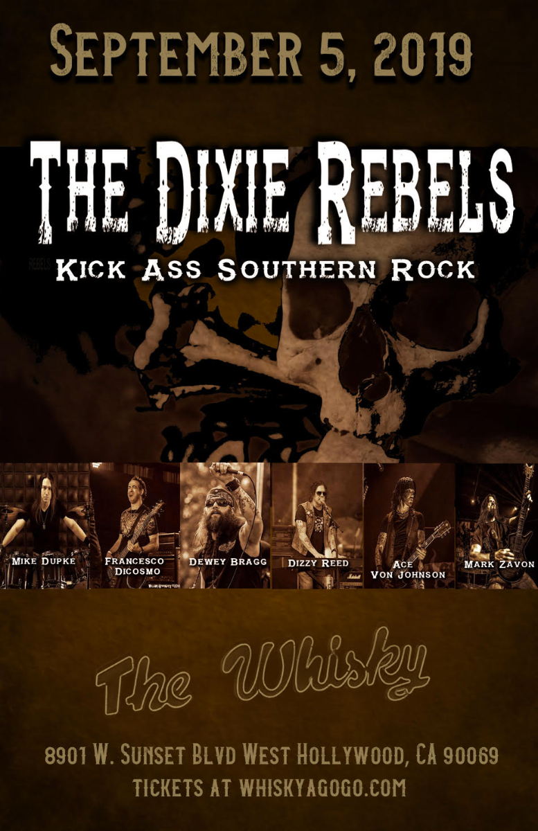 The Dixie Rebels with Dizzy Reed of Guns N' Roses, Fused, No1Cares, Brotha Phil