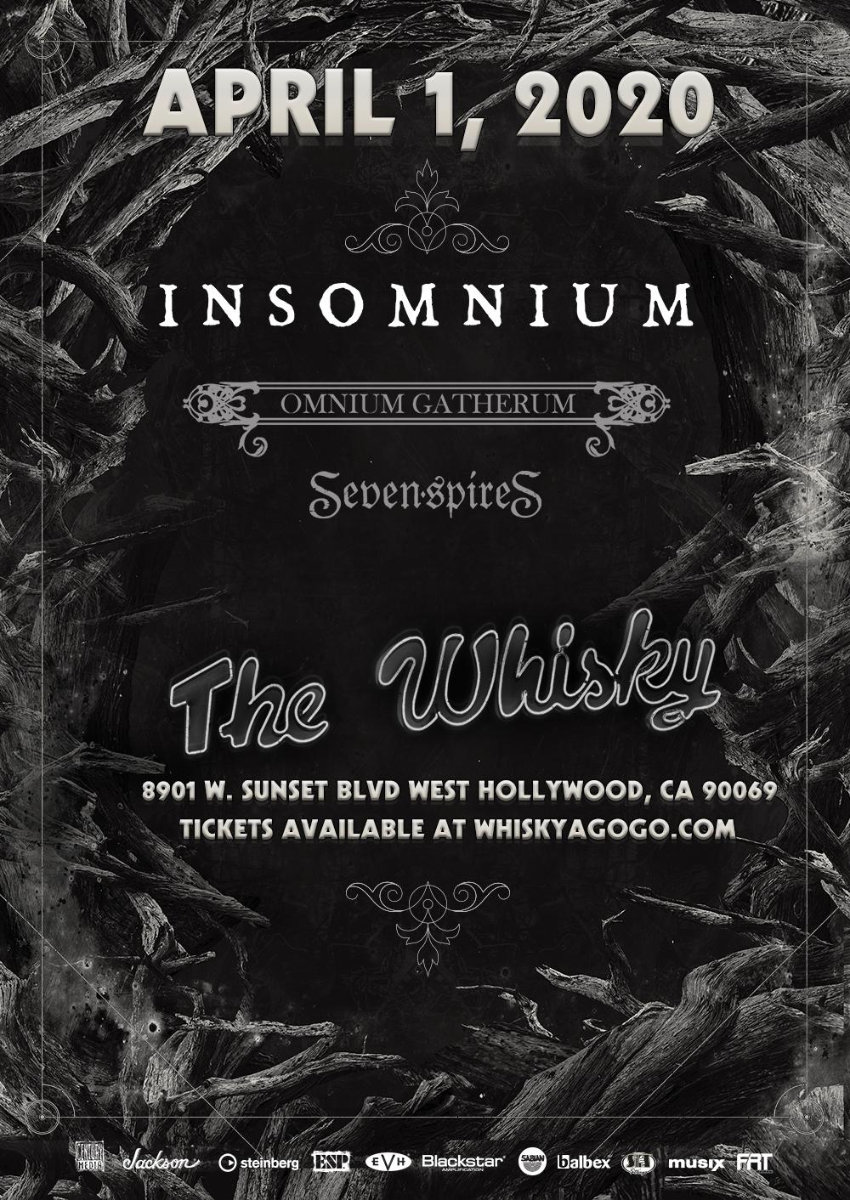 Insomnium, Omnium Gatherum, Seven Spires, Discarnate Motions, Blasphemous Creation, Luna 13