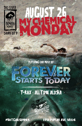 My Chemical Monday - Memphis Emo Night feat Forever Starts Today