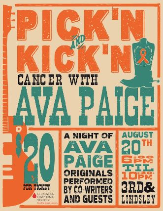 PICK'N and KICK'N Cancer with AVA PAIGE: Nashville's Elite Songwriters Come together for Ava Page