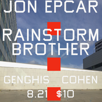 Jon Epcar with Rainstorm Brother at Genghis Cohen