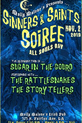 8:30 The Storytellers 9:45 The Rattlesnakes 11:00 Ikes Creek