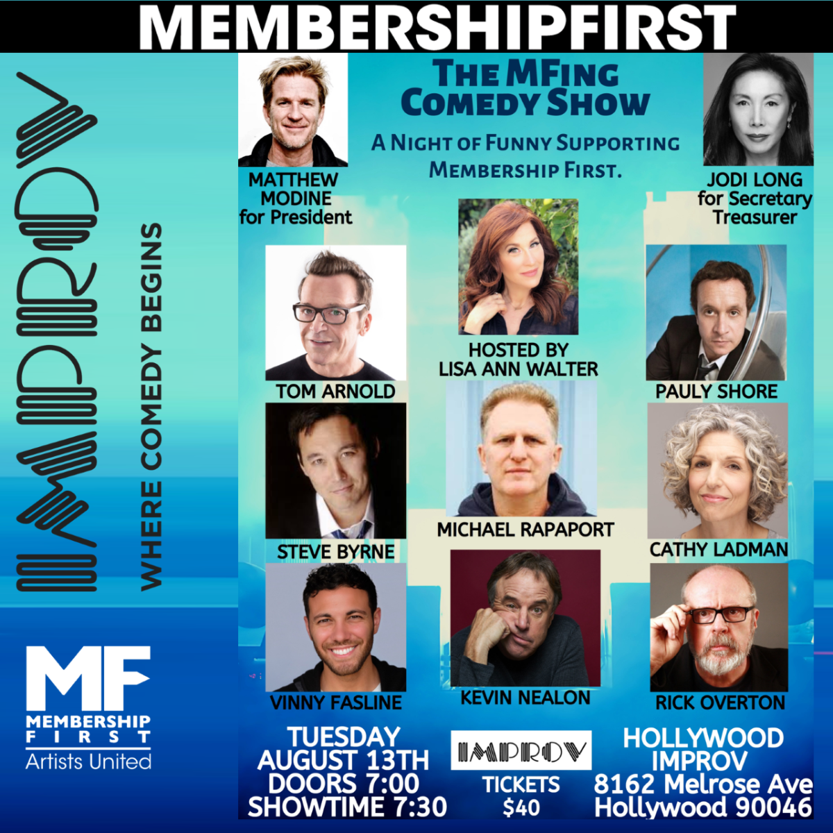 The MFing Comedy Show: A Night of Funny Supporting Membership First