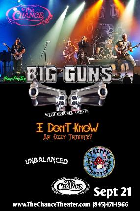 Big Guns, I Don't Know (ozzy trib), Unbalanced, Trippy Switch, Permanent Midnight