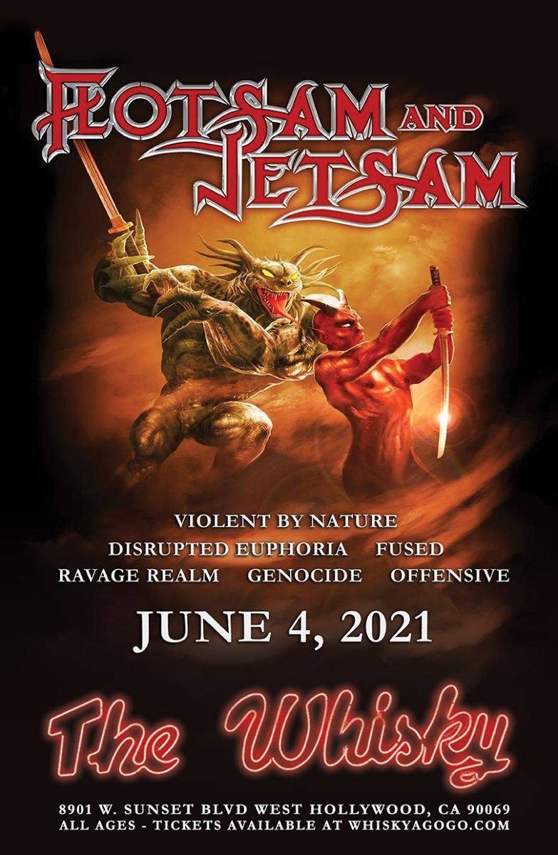 Flotsam And Jetsam, Violent By Nature, Disrupted Euphoria, Fused, Ravage Realm, Genocide, Offensive