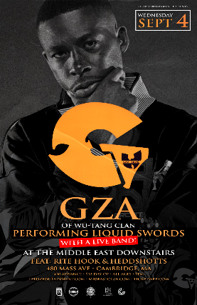 GZA performing Liquid Swords with a Live Band with Rite Hook