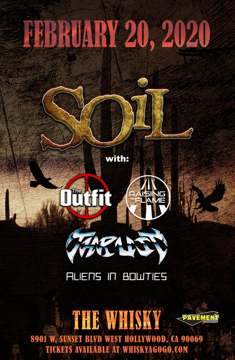 SOiL, The Outfit, Thrust, Sweet Meteor Of Death, Raising The Flame, Aliens In Bowties, Thrust