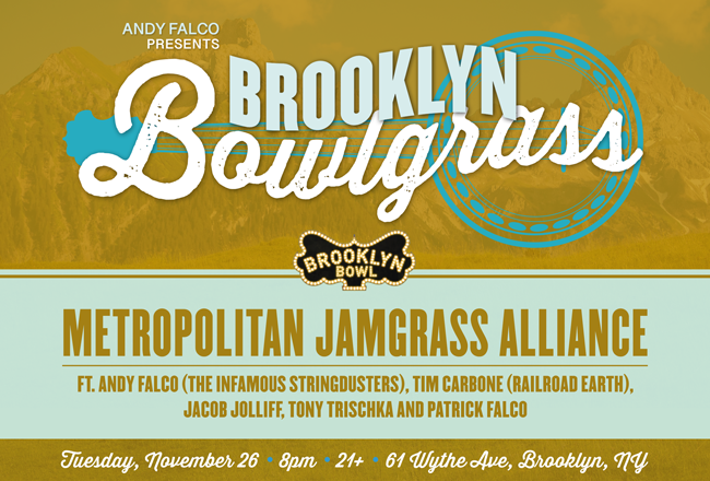 Metropolitan Jamgrass Alliance featuring Tim Carbone (Railroad Earth), Andy Falco (Infamous Stringdusters), Jacob Jolliff, Tony Trischka, and Patrick Falco