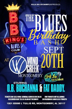 The Blues Birthday Bash starring O.B. Buchanna & Fat Daddy