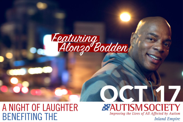 A Night of Laughter With Alonzo Bodden:  Benefiting The Autism Society Of The Inland Empire