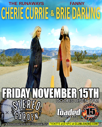 CHERIE CURRIE & BRIE DARLING FALL 2019 TOUR
