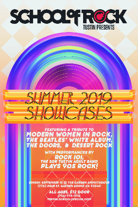 School of Rock Tustin presents Summer 2019 Showcases