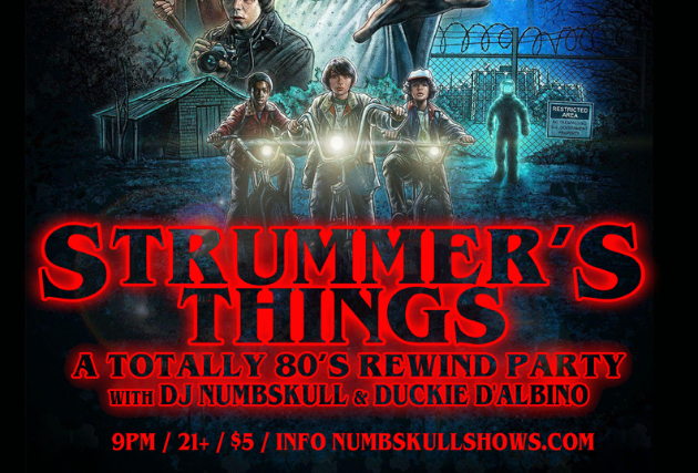 STRUMMER'S THINGS  - Totally 80s Rewind Party