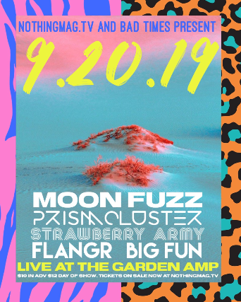 Moon Fuzz, Prismcluster, Strawberry Army, Flangr, and BIG FUN at the Garden Amp