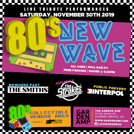 80's New Wave/Indie Tribute Fest at Garden Amp