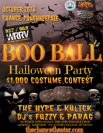 WRRV Boo Ball, The Hype, Kulick, $1000 costume contest