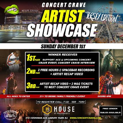 Concert Crave Presents: Artist Showcase