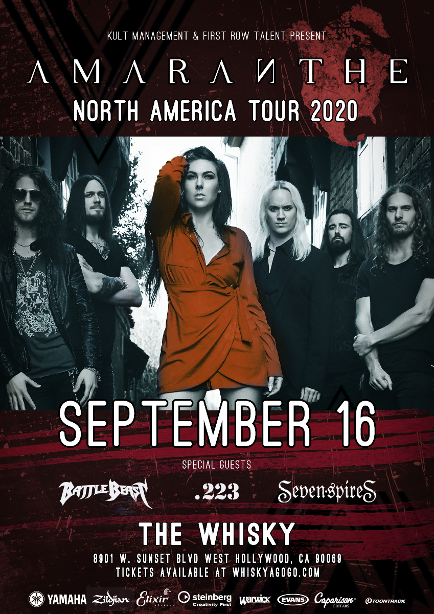 Amaranthe, Battle Beast, Seven Spires, Anthea, 223, Power Tribe