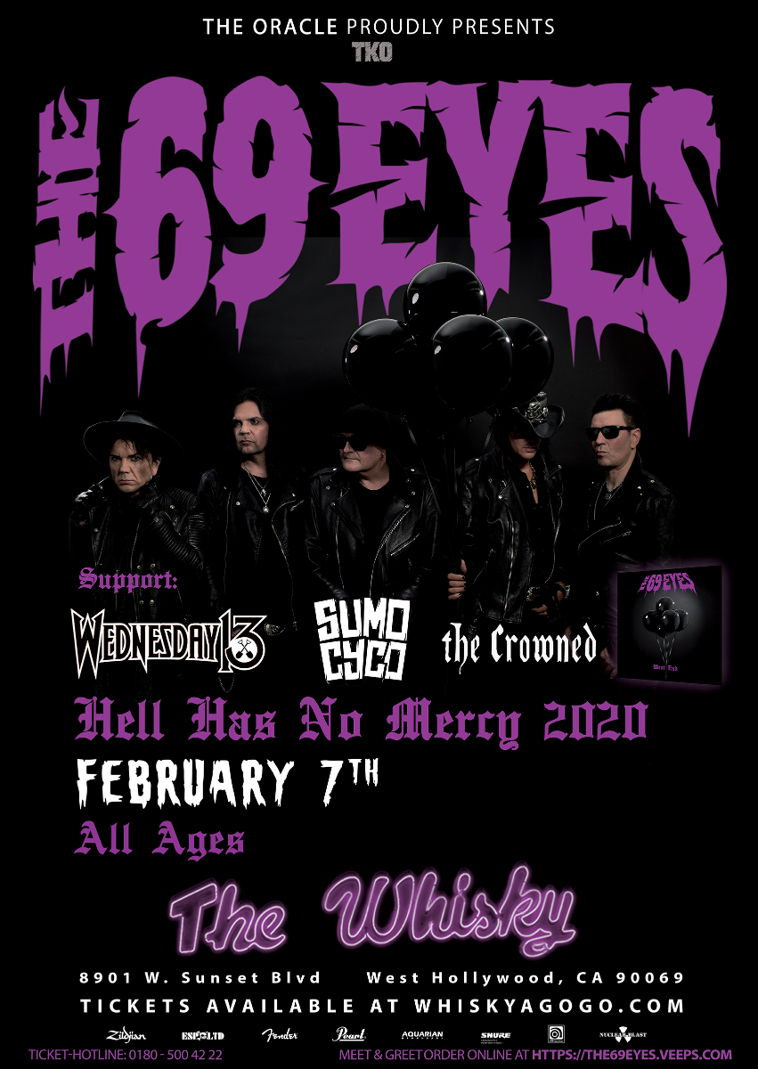 The 69 Eyes, Wednesday 13, Sumo Cyco, The Crowned