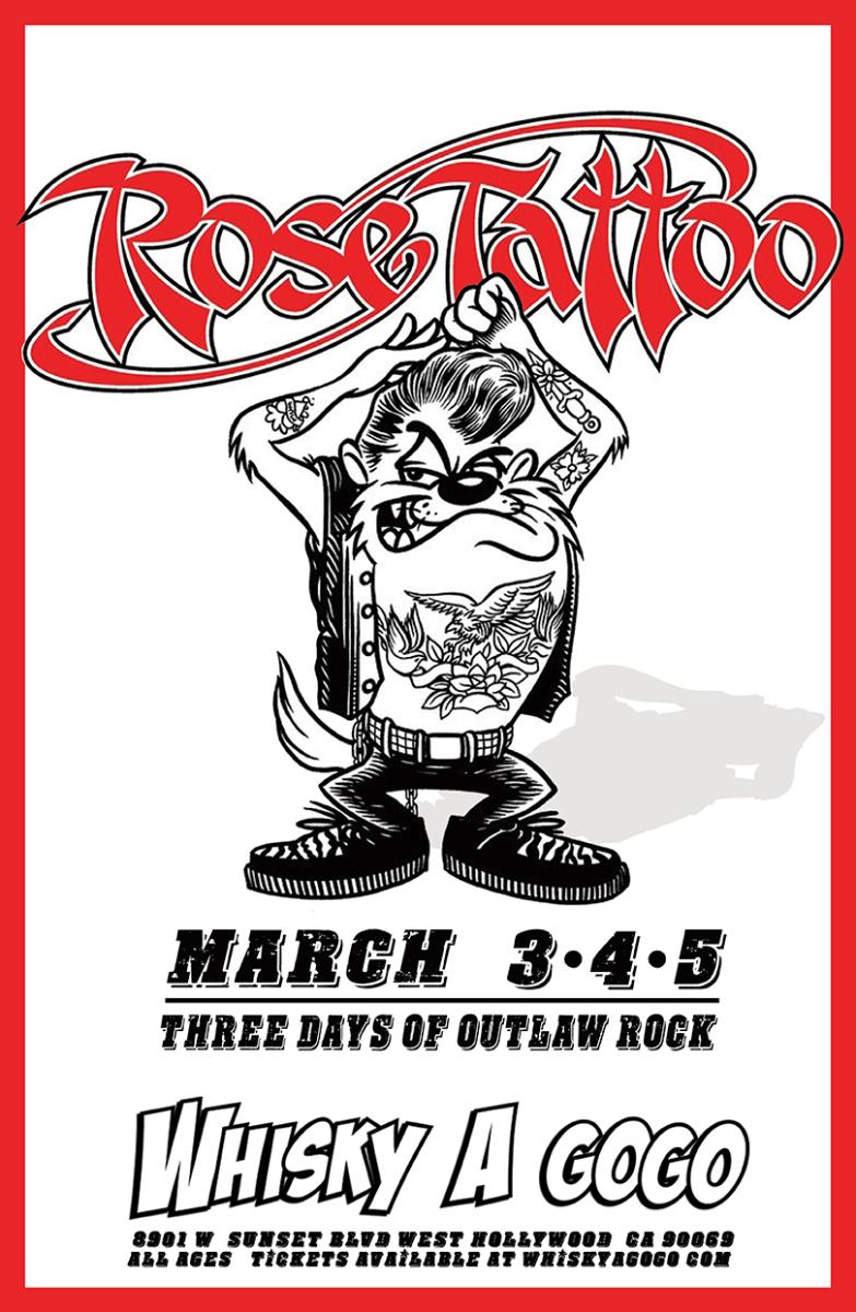 Rose Tattoo, The Aviators, Prima Donna Rising, Whiskey Dogz
