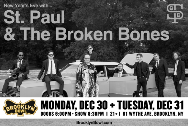 More Info for St. Paul and The Broken Bones lane for up to 8 people! NOT VALID WITHOUT PURCHASE OF TICKETS TO ST PAUL 12/30