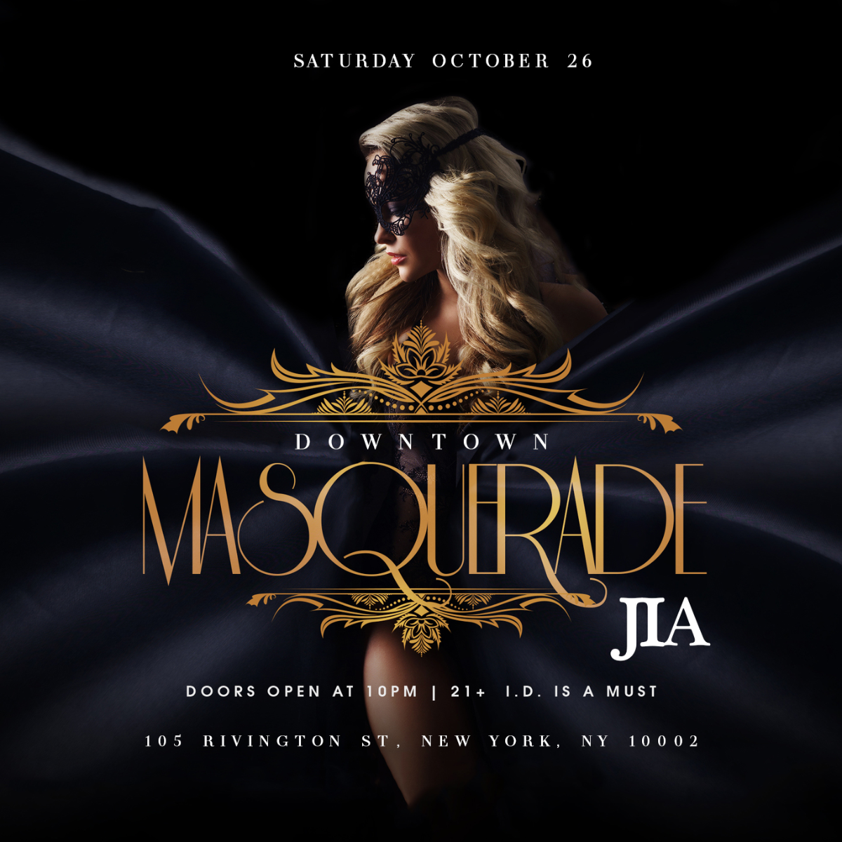 Halloween Masquerade Party at JIA Lounge