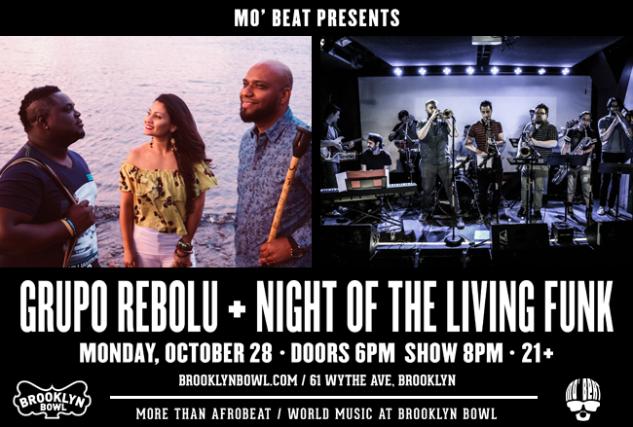 More Info for Grupo Rebolu + Night of the Living Funk