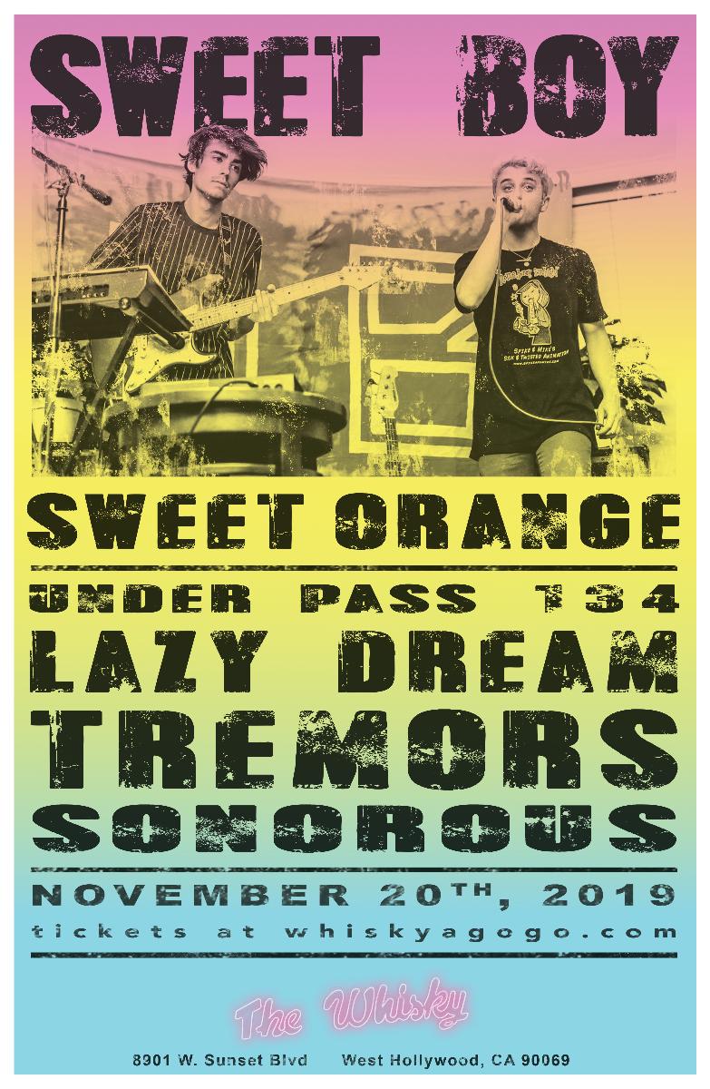 Sweet Boy, Sweet Orange, Underpass 134, Tremors, Lazy Dream , Sonorous