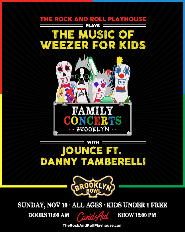 The Rock and Roll Playhouse Plays Music of Weezer for Kids with Jounce ft. Danny Tamberelli