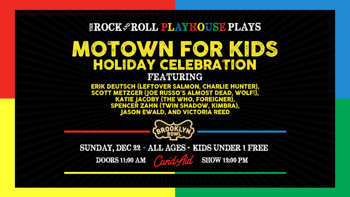 The Rock and Roll Playhouse plays Motown for Kids Holiday Celebration ft. Music of Diana, Stevie, Gladys, the Temptations and More!