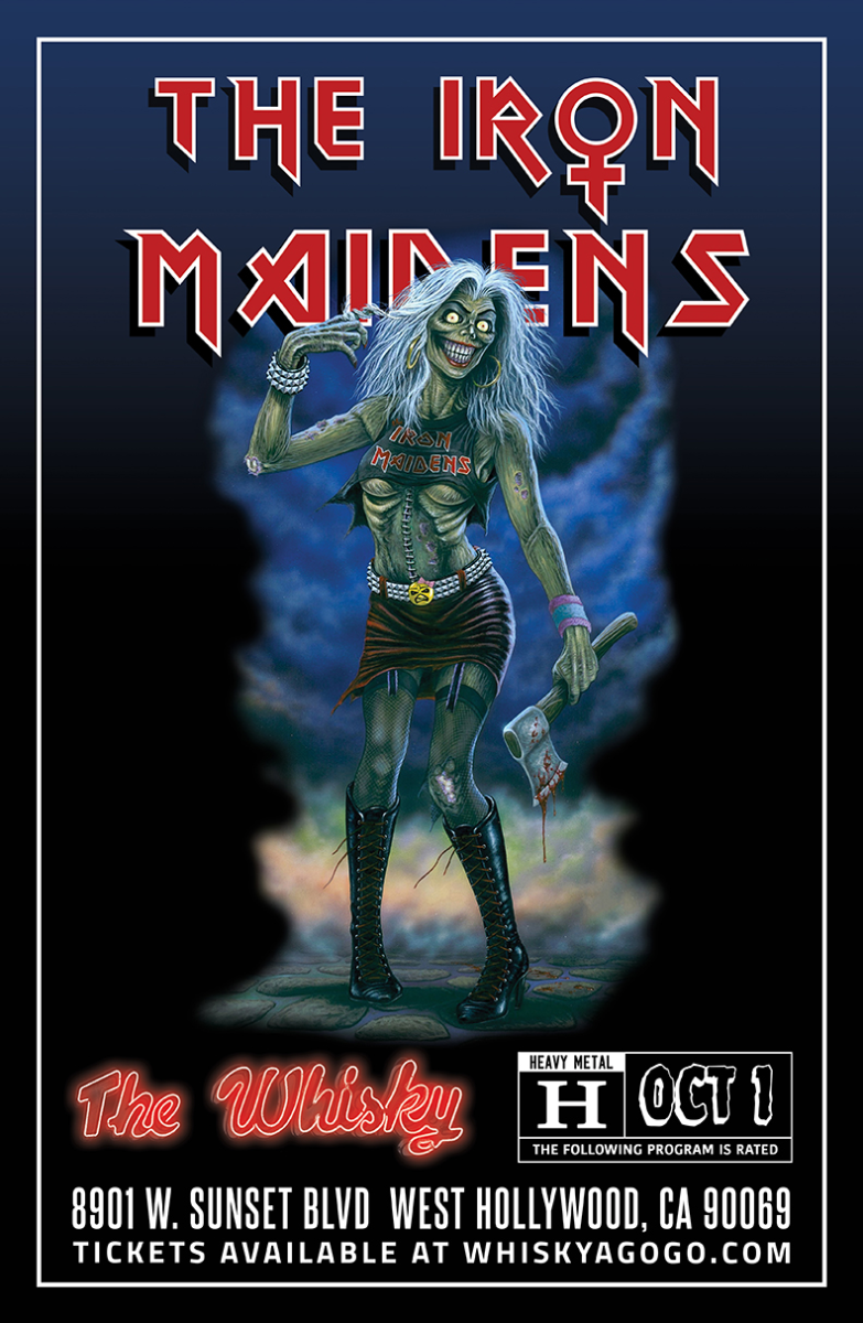 THE IRON MAIDENS - The World's Only All Female Tribute to Iron Maiden, Black Sabbatha (Tribute to Black Sabbath), Guitar and Whiskey Club, Six Gun Quota, Tornadic, Octtobraa, Double Sus