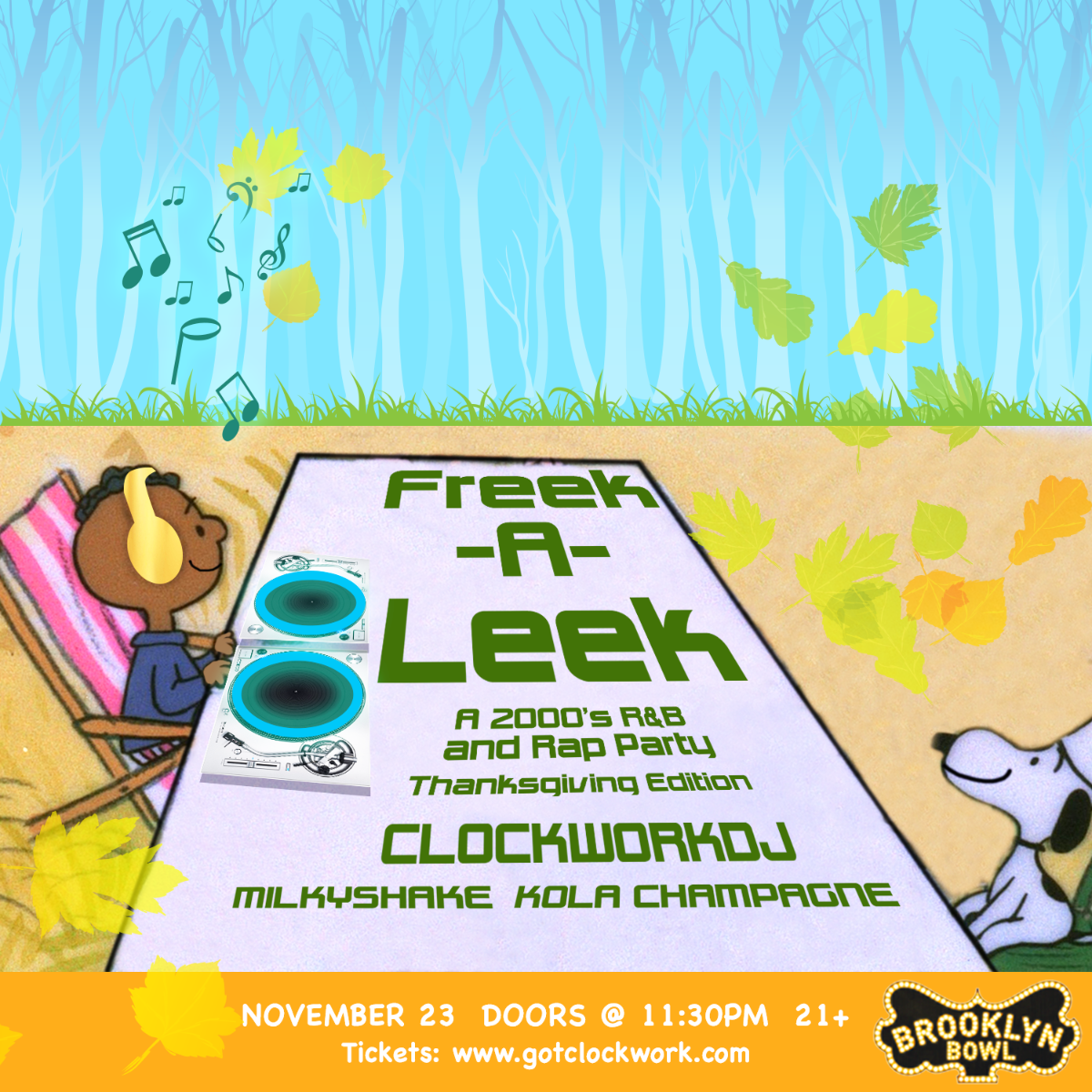 "Freek-A-Leek : A 99-2000's R&B and Rap Party ""Thanksgiving Edition"""