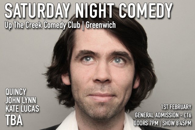 Saturday Night Comedy at Up The Creek Sat 01 Feb