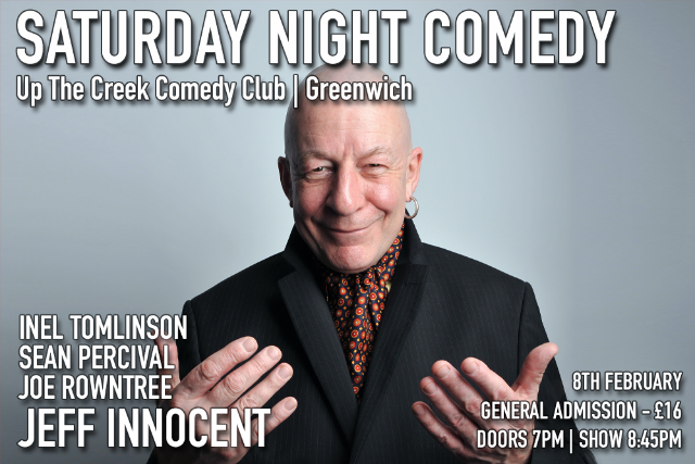 Saturday Night Comedy at Up The Creek Sat 08 Feb