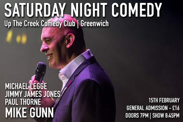 Saturday Night Comedy at Up The Creek Sat 15 Feb