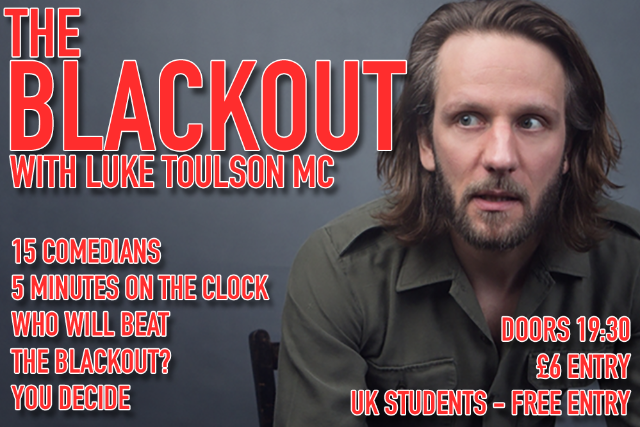 The Blackout Thu 29 Oct