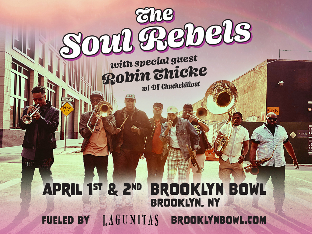 The Soul Rebels with special guests to be announced!