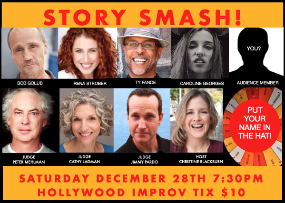 Story Smash the Storytelling Game Show! with Christine Blackburn, Peter Mehlman, Blaine Capatch, Bob Golub, Caroline Georges, Dawn Brodey, Rena Strober, Cathy Ladman, and more!