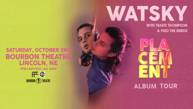 Watsky - Placement Album Tour