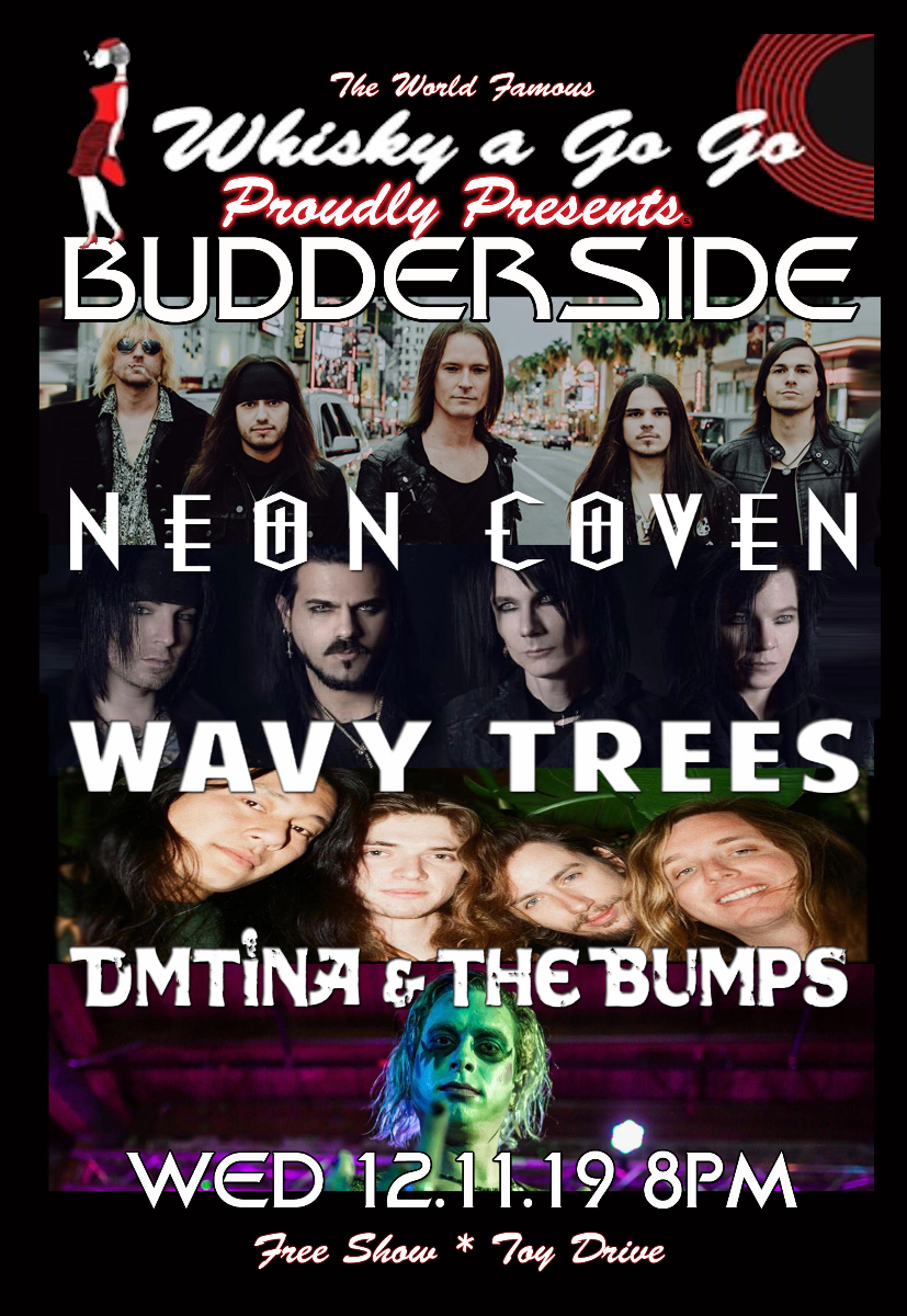 Budderside, Neon Coven, Wavy Trees, Dmtina & the Bumps, Cryptic